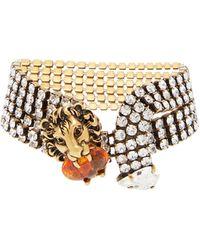 Versace Collier en or rose 18 carats à opale cœur
