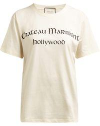 Gucci - Chateau Marmont Print Cotton T Shirt - Lyst