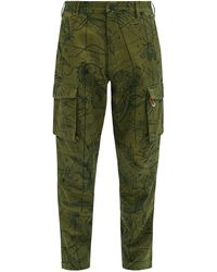 Givenchy Map-print Cotton-twill Cargo Trousers - Green