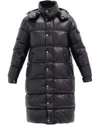 Moncler Hanoverian Down-quilted Hooded Coat - Black