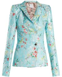 Halpern - Floral Jacquard Single Breasted Jacket - Lyst