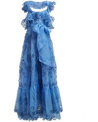 Valentino - Ruffled Silk Organza Gown - Lyst