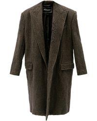 Balenciaga オーバーサイズ ダメージウールコート - ブラウン