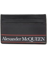 Alexander McQueen - ロゴプリント レザーカードケース - Lyst