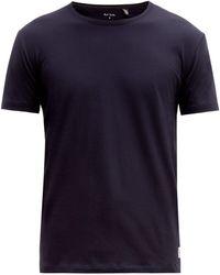Paul Smith オーバーロックステッチ コットンtシャツ - ブルー