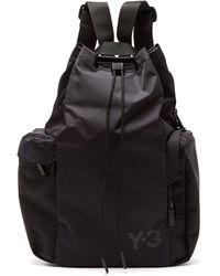 Y-3 Logo-print Nylon Backpack - Black