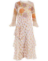 Peter Pilotto - Floral-print Silk-georgette Dress - Lyst