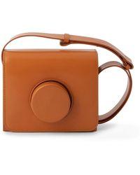 Lemaire カメラ スモール レザーバッグ - ブラウン