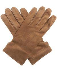 Lanvin - Topstitched Suede Gloves - Lyst