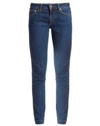 Loewe - Mid Rise Skinny Leg Jeans - Lyst