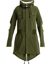 Paco Rabanne Faux Shearling Trimmed Shell Hooded Parka - Green