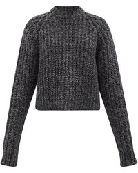 Raey リサイクルカシミア ラグランスリーブセーター - ブラック