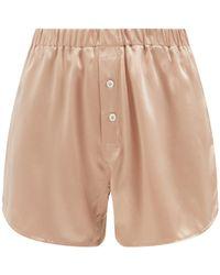Araks Eduardo Silk-satin Pajama Shorts - Natural