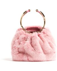 Valentino - Bebop Fur Ring Clutch Bag - Lyst