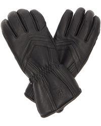 Toni Sailer Leyla Panelled Leather Ski Gloves - Black