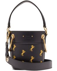 Chloé - Roy Little Horse Embroidered Leather Bucket Bag - Lyst