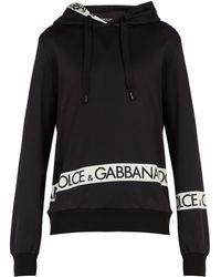 Dolce & Gabbana - Logo Print Hooded Sweatshirt - Lyst