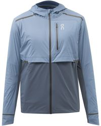 On Weather Technical-shell Running Jacket - Blue