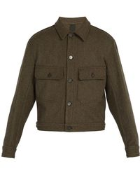 Lemaire - Felted Wool-blend Jacket - Lyst