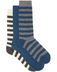 Howlin' By Morrison Pack Of Three Merino-blend Socks - Blue