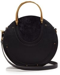 Chloé - Pixie Leather And Suede Cross-body Bag - Lyst