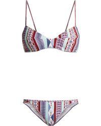 Le Sirenuse - Myriam Arlechino Print Bikini - Lyst