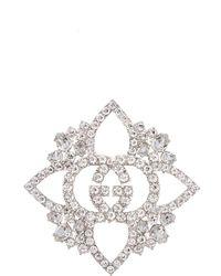 Gucci GG Crystal-embellished Brooch - Metallic
