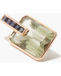 Dezso by Sara Beltran Amethyst, Sapphire & 18kt Rose-gold Charm - Metallic