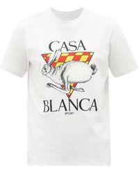 CASABLANCA ロゴ コットンtシャツ - ホワイト