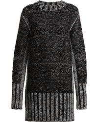 MM6 by Maison Martin Margiela - Metallic Heavy Knit Jumper Dress - Lyst