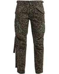 Maharishi Leopard Print Cotton Twill Cargo Pants