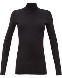 Bottega Veneta タートルネック ジャージーセーター - ブラック
