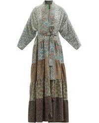 Rianna + Nina Patchwork Vintage-silk Robe - Multicolour