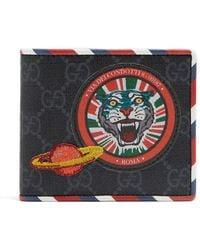 Gucci | Gg Supreme Tiger And Planet-patch Wallet | Lyst