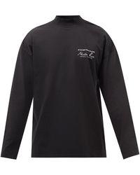 Martine Rose ロゴ コットン ロングスリーブtシャツ - ブラック