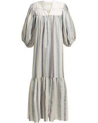 LOVE Binetti Light My Fire Cotton Dress - Blue