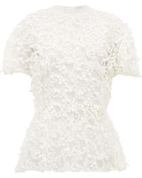 Cecile Bahnsen Tammi Floral-embroidered Tulle Blouse - White