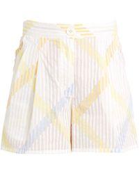 Thierry Colson   Macha Stripe-print Cotton-voile Shorts   Lyst