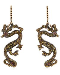 Valentino - Dragon Crystal And Strass-embellished Earrings - Lyst