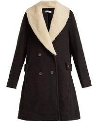 JW Anderson - Shearling Collar Wool Coat - Lyst