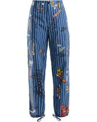 Vetements - Pantalon cargo rayé - Lyst