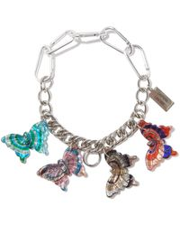 Chopova Lowena Butterfly-charm Stainless Steel Necklace - Metallic