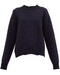 Maison Margiela Distressed Wool Sweater - Blue