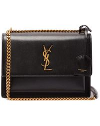 Saint Laurent - Sunset Medium Leather Shoulder Bag - Lyst