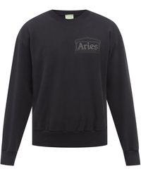 Aries ロゴ コットンスウェットシャツ - ブラック