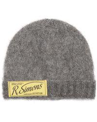 Raf Simons Logo-patch Beanie Hat - Grey