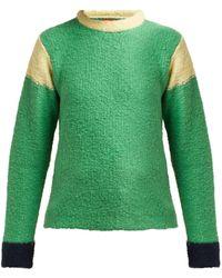 Eckhaus Latta Kermit Contrast Panel Sweater - Green