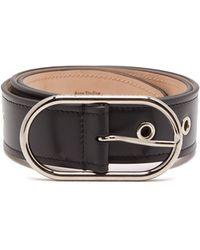 Acne Studios Eyelet-studded Leather Belt - Black