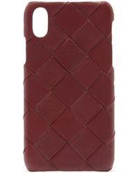 Bottega Veneta Intrecciato Iphone® X Leather Phone Case - Multicolour