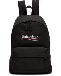 Balenciaga - Explorer Logo Embroidered Coated Canvas Backpack - Lyst